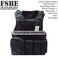 Freeshipping SWAT Black FSBE OTV MOLLE Compatible Modular Military Army interceptor Tactical Vest sets Adjustable Size(TV-09)