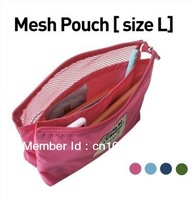 Free Shipping Women Brand Travel Wash Bag Cosmetic Bag Monopoly Mesh Pouch