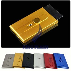 free shipping Metal Business Aluminum Alloy Card Case Name Card ID Holder Pocket Box Practical Simple 9290(China (Mainland))