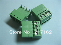 12 Pcs Per Lot Angle 4pin/way Pitch 3.5mm Screw Terminal Block Connector Green Color Pluggable Type with angle pin HIGH Quality