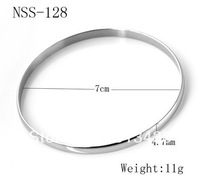 10pcs wholesale Great New Stainless Steel Shinny Girls' bangle bracelet, for festival birthday gifts,free shipping