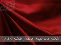 Free shipping/free epacket/100% silk fabric /plain dyed/wine red/silk dress fabric/silk bedding/ #LS0744-3