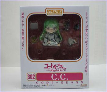 10pcs/lot Anime figure Nendoroid Figure 302 Code Geass CC pvc action figure free shipping via EMS