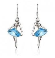 Wholesale  9501 Dream blue ballet girl dancers angel - crystal earrings