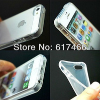 Free shipping,Wholesale 1pcs/lot Ultra Thin Transparent Clear Crystal Soft Rubber silicon tpu Case For iPhone 5 5g
