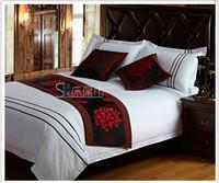 Estilete Damask Print Crochet Table Runner New Quality Flock Printing Fabric Tailslock Towel Bed Runner Pad Flag free Shipping
