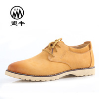 Cattle men's fashion trend fashion leather shoes breathable genuine leather cow muscle outsole casual shoes