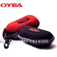 Free Shipping-Top Quality-Brand New Style Fashion Elegant Sun glasses case travel carry zipper sports eyewear box mirror bag