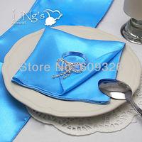 Free Shipping 20 pieces Periwinkle Satin Napkin Square Handkerchief Hanky Napkin Wedding Party Banquet