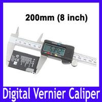EMS Free shipping LCD 8 inch (200mm) digital vernier caliper , Digital CALIPER VERNIER GAUGE MICROMETER ,5pcs/lot