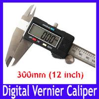 "Free shipping High quality 300mm 12"" Digital CALIPER VERNIER GAUGE MICROMETER , Digital Measure tool with LCD,2pcs/lot"