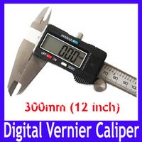 "Free shipping High quality 300mm 12"" Digital CALIPER VERNIER GAUGE MICROMETER , Digital Measure tool with LCD,2pcs/lot"