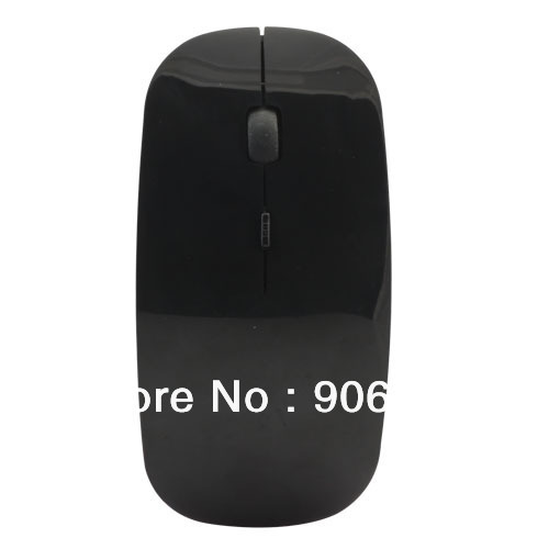 Fashion Ultra-Thin Black 2.4GHZ Wireless Optical Mouse Mice For Laptop Desktop Computers(China (Mainland))