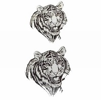 tiger head Temporary Tattoo Stickers - Body Art - Body Painting - mixed designs -  pcs/lot - Free Shipping