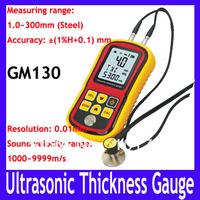 EMS/DHL Free shipping Ultrasonic Wall Thickness Gauge Meter Tester Steel PVC Digital Testing GM130,6pcs/lot