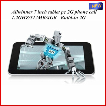 2013 most popular  7 inch tablet pc 2g phone call with multi functions of Skype,email