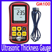 EMS/DHL Free shipping Ultrasonic Thickness Gauge ,GM100 Ultrasonic Thickness Gauge Meter Tester Steel Digital Testing ,6pcs/lot