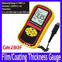 EMS/DHL Free shipping GM280F LCD Digital Film Coating Thickness Gauge Smart Sensor Paint Thickness Meter Tester,12pcs/lot