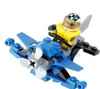 KAZI 59pcs/set DIY Blue Whale Speed Boat Children's Educational Plastic Toy Block Set 6072, Free Shipping
