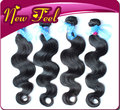 Good quality products  virgin human hair extension Brazilian body wave 4pc/lot color 1b DHL free shipping