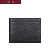 2013 new arrival Free Shipping Brand MILRY 100%  Genuine Leather  wallet for men purse money clip credit card holder C0214
