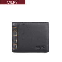 2013 new arrival Free Shipping Brand MILRY 100%  Genuine Leather  wallet for men purse money clip credit card holder C0212