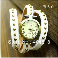 free shipping multi colors top quality bracelet watch women Genuine Cow leather watch white