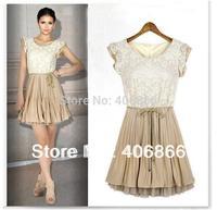 Wholesale Free Shipping! 2013 Newest Dress fashion chiffon lace big size princess dress