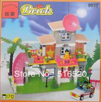 Enlighten Girl Series Villa NO.9932 Building Blocks Sets 300pcs Educational DIY Construction Bricks toys for children