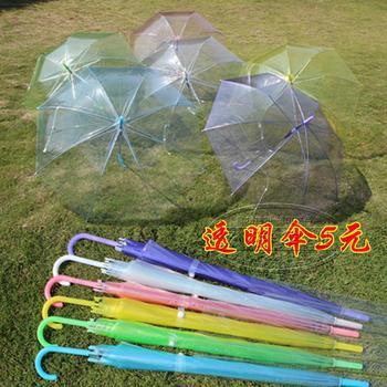 wholesale and retail  long-handled umbrella customize advertising  transparent umbrella princess beautiful  dance  for women