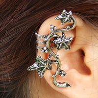 Fashion Vintage Female Metal Alloy Punk Leaves Clip Earrings