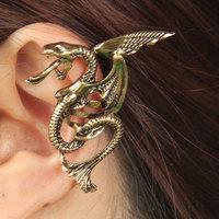 Fashion Vintage Metal Femle Punk Trend Dragon Ear Cuffs With Clip
