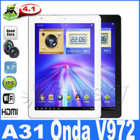 really in store onda v972 quadl core 2048*1536 Retina IPS screen 2GB RAM 16GB/32g/64GB android 4.1.1 dual camera 5MP TABLET PC
