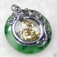 Cute jade rotativo de oro de Buda de la suerte