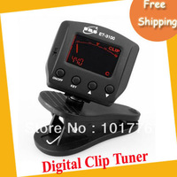 EMS Free shipping Chromatic Digital clip tuner with MIC and clip modes.10pcs/lot
