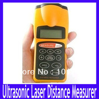Free shipping Durable Ultrasonic Distance Measurer,Area Volum Meter, Laser Designator,Laser Rangefinder,MOQ=1