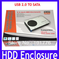 EMS Free shipping HDD enclosure,3.5-inch mobile storage systems USB 2.0 TO SATA ,Aluminum alloy Hard Drive Case,10pcs/lot