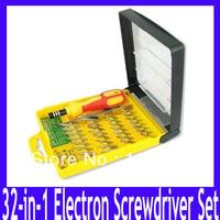 Free Shipping high quality precision telecommunication tools 32-in-1 Pocket precision screwdriver set,3pcs/lot