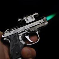 Novelty lighter ak laser gun infrared toy gun inflatable windproof green