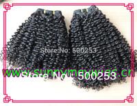 Afro kinky curly virgin Brazilian  hair hair weft 100% human hair extension
