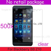 500pcs/lot+DHL free shipping,High clear screen protector film guard lcd,without package,For Blackberry BB Z10,newest