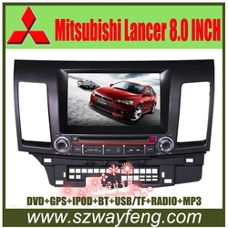 Best deal Mitsubishi Lancer DVD GPS with Radio, Canbus, 8&quot; HD digital screen, Bluetooth, iPOD, TV, USB/SD+Free 4G Card(China (Mainland))