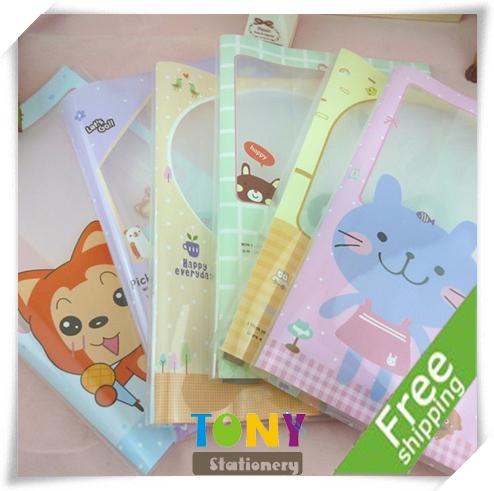 TONY Wholesale 2013 New Arrival Cartoon Animals File Folder/Pouch/Holder Various Colors 10pcs/lot 2lot/set ZH008 Free Shipping(China (Mainland))
