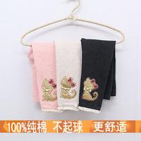 Children's clothing 2013 spring girls'  child baby cartoon trousers legging cat pants 0071 Wholesale -5pcs/lot