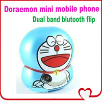 1.4 inch doraman flip mobile phone carton mini phone dual band dual sim card