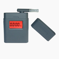 Free shipping! 3-digit LCD Alcohol Tester, Clock & red Backlight & 5pcs Mouthpieces