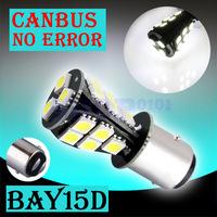 6pcs 1157 BAY15D P21/5W 18 SMD Pure White CANBUS Error Free Signal  18 LED Light Bulb V6 12V parking car light source