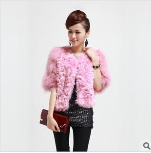 LOW!LOW! NEW Free shipping EMS 2013 fox fur coat with lamb fur &lamb fur coat KG-001(China (Mainland))