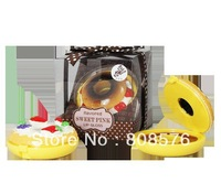 free shipping  cute donut shape fruit flavor lip gloss