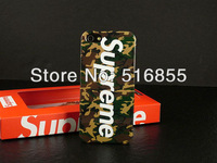 MOQ 1pc Fashion Supreme Leopard camouflage Hard Plastic Back Case For iphone 5 5G with retail box + DHL freeshipping